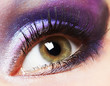 Fashion woman eye makeup.