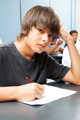 Serious School Boy