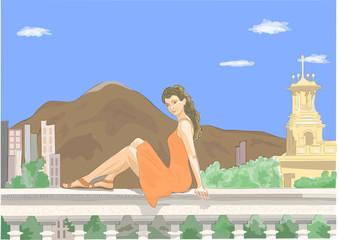 Девушка и панорама