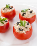 tomatoes stuffed with tuna and black olives
