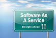 "Highway Signpost ""Software As A Service"""