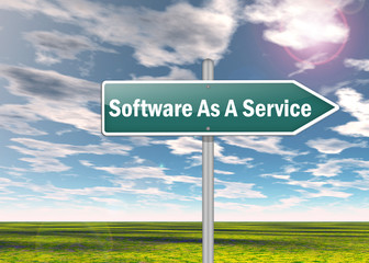 "Signpost ""Software As A Service"""