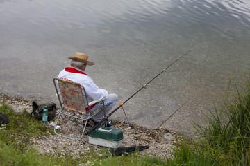 Geduldiger Angler