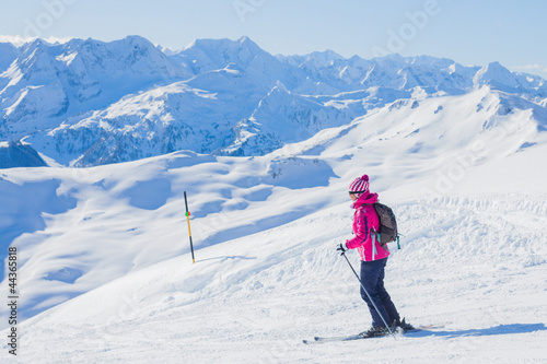 Young woman a ski wear