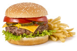 Fototapety Burger and french fries