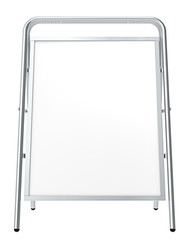 Sandwich Board, front view and isolated. Copy Space.