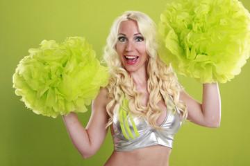 Cheerleading the green team
