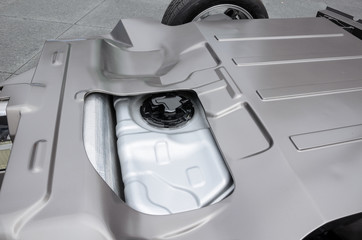 Battery in rear of electric car