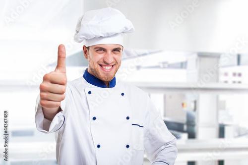 Successful chef portrait