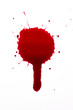 Blood drop splat and drip