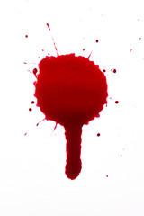 Blood drop splat and drip