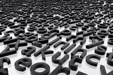 Letras de alfabeto abstracto