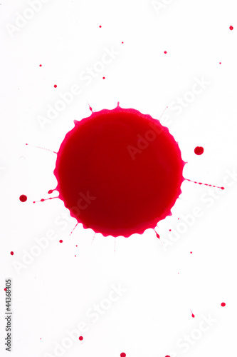 Blood drop splat