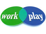 Work Play Venn Diagram Intersecting Circles Fun Enjoyment