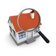 Searching a house magnifying glass