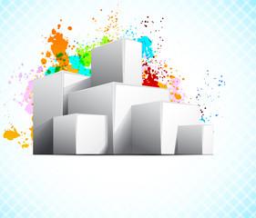 Background wiht cubes