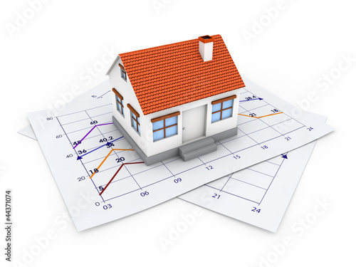 3d House Plan Building Blueprint Stock Photo And