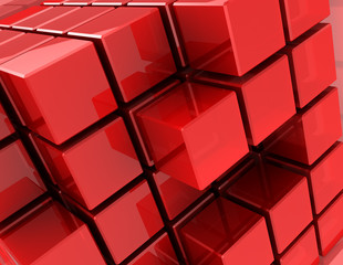 Red cubes © Maxim_Kazmin