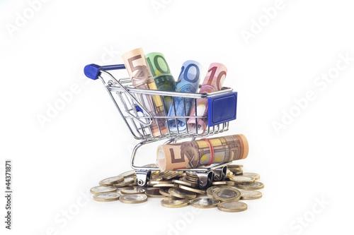 EURO in Einkaufswagen