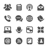 black communication icons