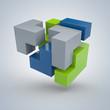 3D-Puzzle - erfolgreiche Lösung