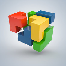 3D Puzzel - succesvolle oplossing