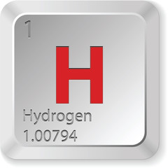 hydrogen - keyboard button