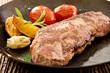 Steak mit Gemüse