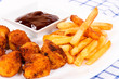 Chicken and french fries
