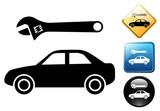 Car repair pictogram and icons