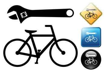 Bicycle pictogram and icons