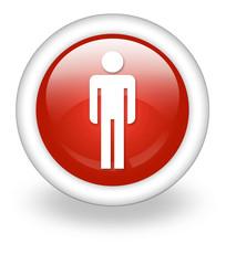 "Light Red Icon ""Men's Restroom"""