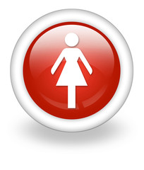 "Light Red Icon ""Ladies Restroom"""