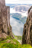 View of Lysefjord from mountain Kjerag