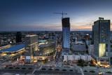 Night panorama of Warsaw - 44382477