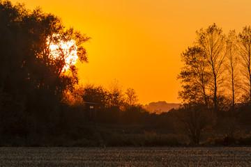 Stimmungsvoller Sonnenuntergang in Mecklenburg-Vorpommern