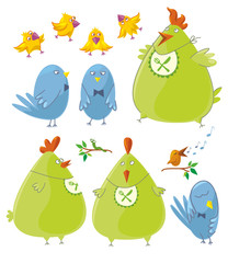 Personages - Cute Birds
