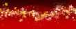 Weihnachtskarte, Banner, Panorama, abstrakt, weihnachtlich, rot