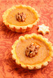 Mini pumpkin tart