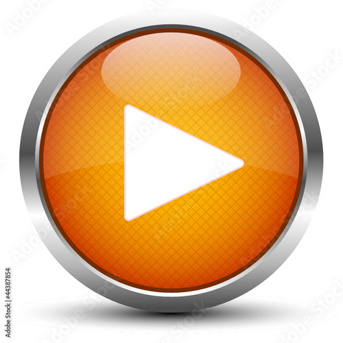 Play Button Orange