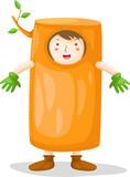 Boy wearing tree costume