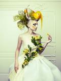 Fototapety Lady with avant-garde hair