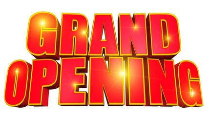 Grand opening glitter