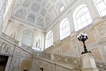 Napoli, interno del Palazzo reale, Piazza del Plebiscito