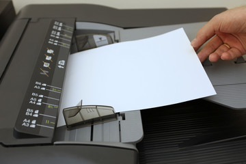 making copies on the laser copier machine