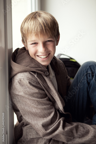 Portrait of  happy teenager outdoor