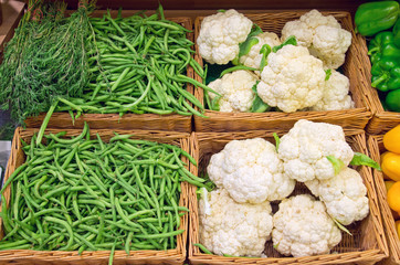 French bean and cauliflower