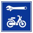 Señal reparacion de ciclomotores