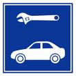 Señal reparacion de coche