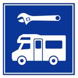 Señal reparacion autocaravana